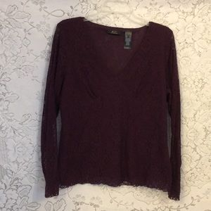 Lace Ladies shirt W/Attached camisole like New XL